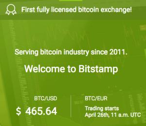 Bitstamp first licensed bitcoin exchange