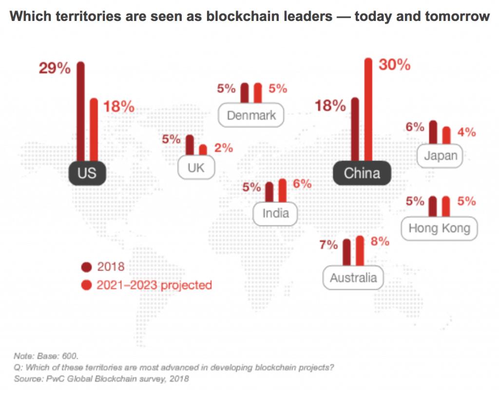 Blockchain leaders, PwC Blockchain Survey 2018