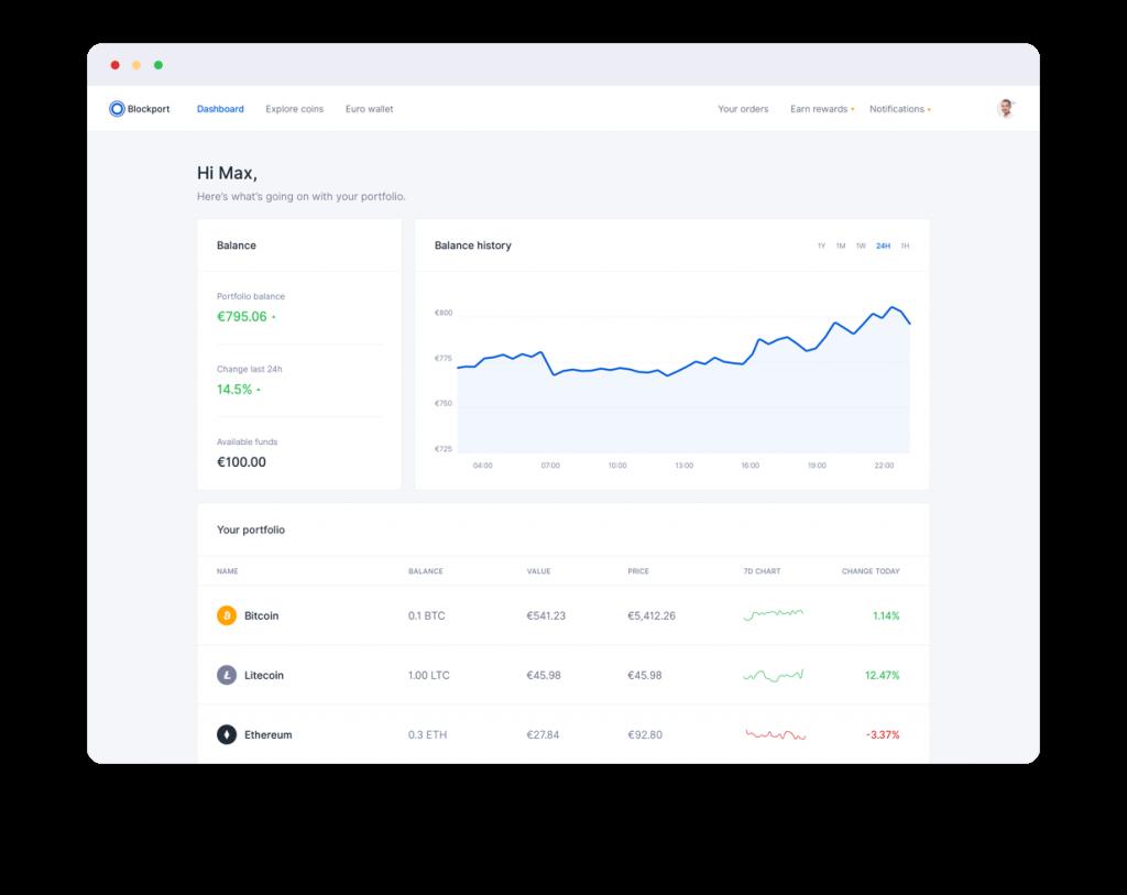 Blockport's cryptocurrency trading platform