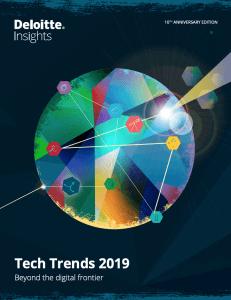 Deloitte Tech Trends 2019