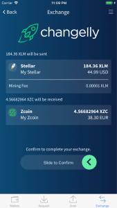Edge Wallet Changelly integration