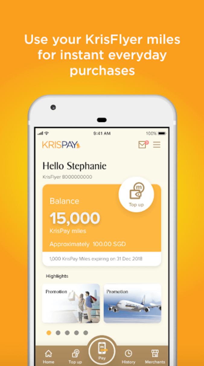 KrisPay Android app