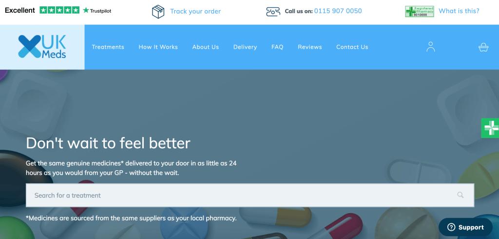 UK Meds homepage