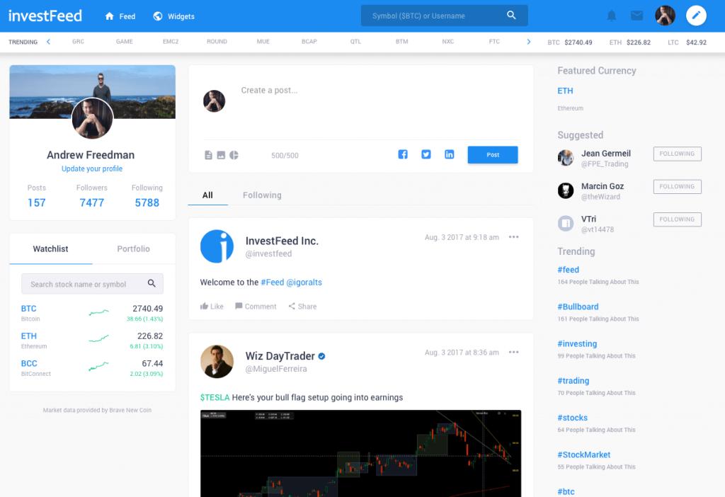 investFeed platform
