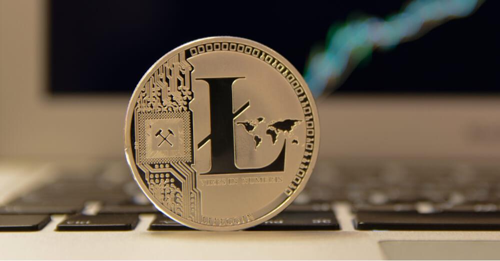 Image of Litecoin on laptop