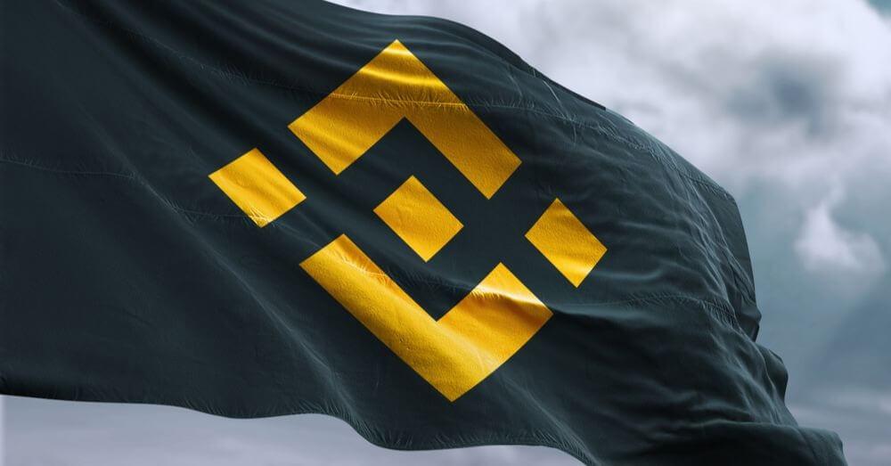 An image of a Binance flag
