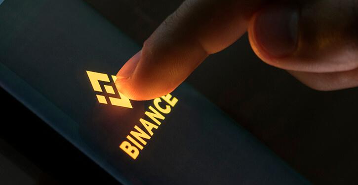 Image of Binance on a phone app