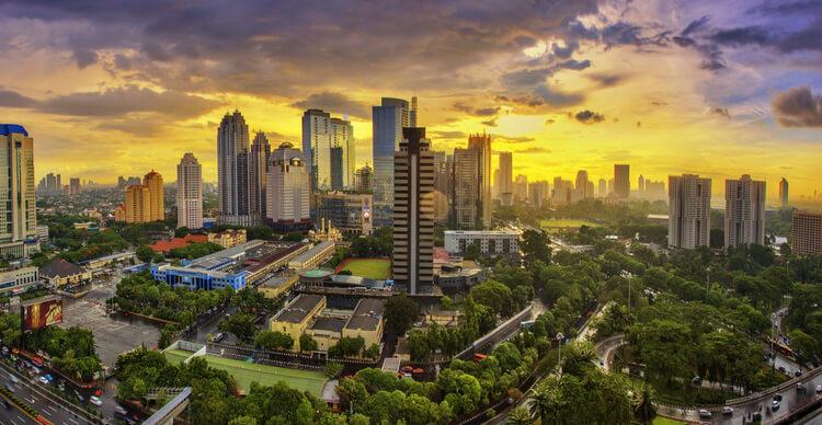 An image of Indonesian capital Jakarta