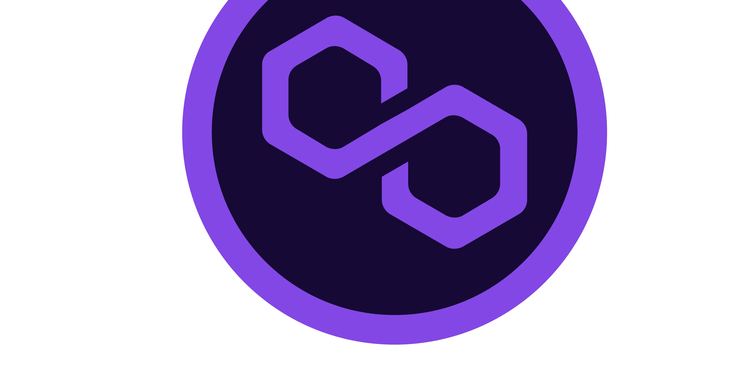 An image of polygon coin symbol