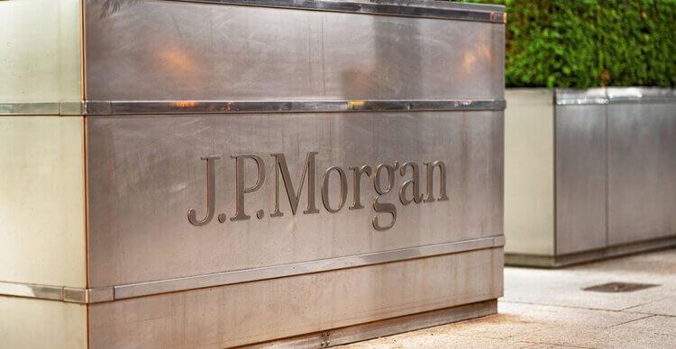 An image of the JP Morgan sign