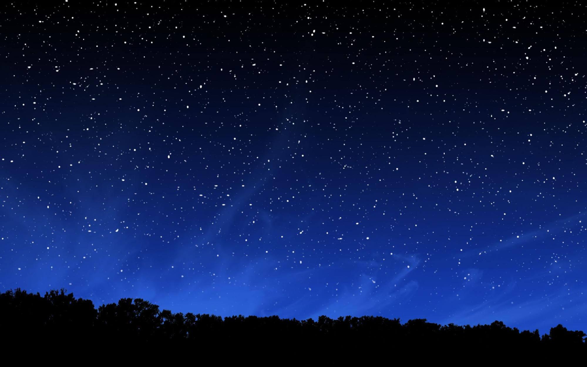 The night sky with stars